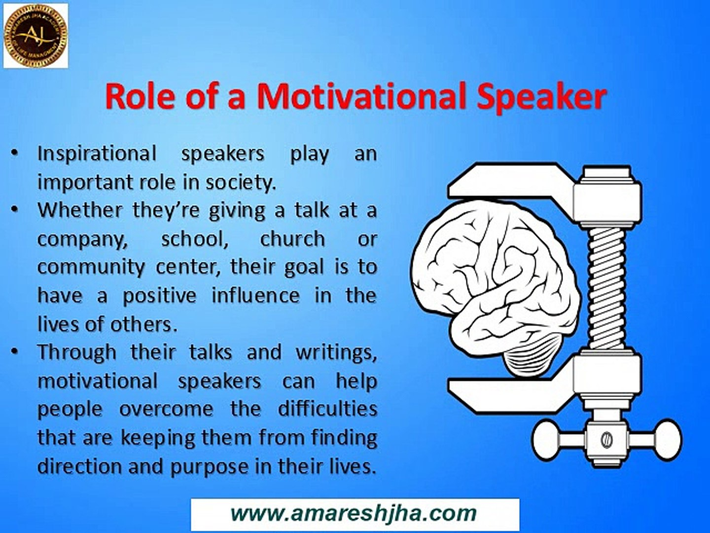 The Role Of Motivational Speakers In Society Today | Advantages Of Motivational Speakers