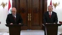 Başbakan Yıldırım, Irak Başbakanı İbadi ile Ortak Basın Toplantısı Düzenledi-4