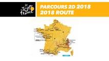 Parcours 2D - Tour de France 2018