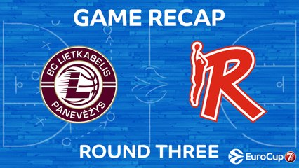 7Days EuroCup Highlights Regular Season, Round 3: Lietkabelis 75-82 Reggio Emilia