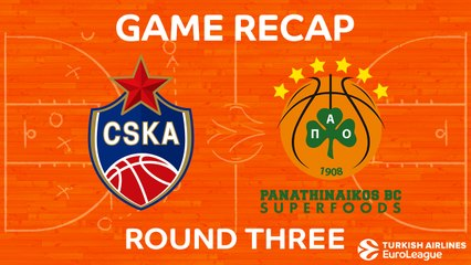 EuroLeague 2017-18 Highlights Regular Season Round 3 video: CSKA 81-63 Panathinaikos