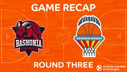 EuroLeague 2017-18 Highlights Regular Season Round 3 video: Baskonia 63-80 Valencia