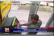 Pucallpa: cámara capta a delincuentes manipulando cajero automático