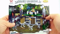 Dino Bricks Velociraptor Enclosure - Lego compatible dinosaur blocks - Speed build Dinosaur toys