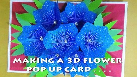 Easy Art And Crafts - DIY 3D Flower Pop Up Card - Small Flower Pop ... | 297x526