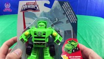 Transformers Rescue Bots Bumblebee Medix the Doc Bot and Boulder the Construction Bot Battle Morbot