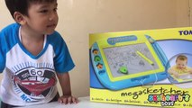 TOY DRAWINGS with Tomy MEGASKETCHER Magnetic Drawing Board for kids and arts-Eh_fHvSJm2Y