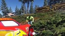 Lightning McQueen CAR RACE Hulk help Police Spiderman Joker Venom Kidnap Spiderm