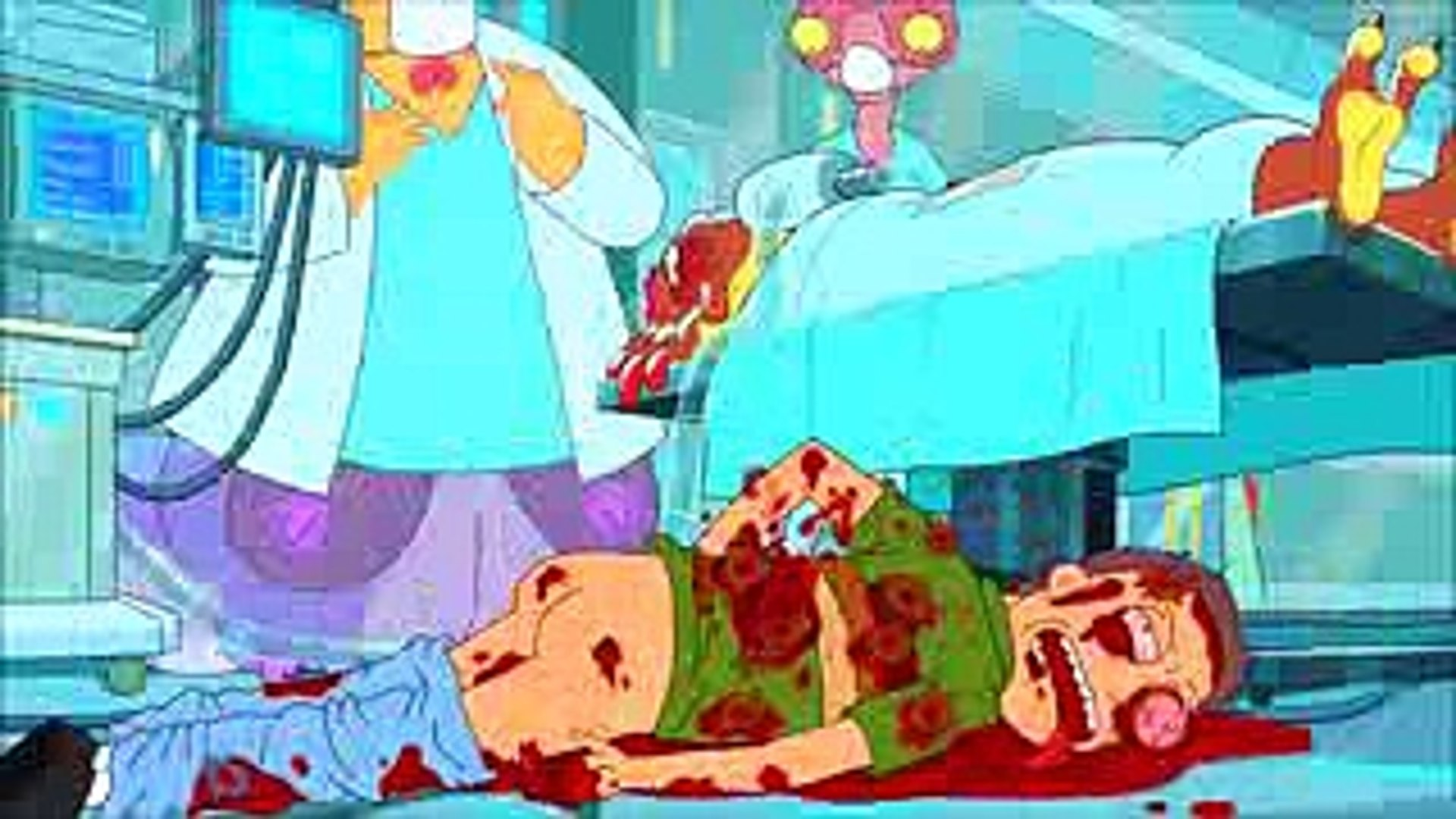 Rick and Morty - Both Jerry's death scenes