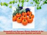 Zantec 16 Pcs Lifelike künstliche gefälschte Gemüse Faux Schaum Kürbis Haus Haus Küche
