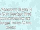 LUFA Western Style Hollow Out Design Metall Kerzenständer mit Birdcage Form Ornament