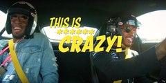 Usain bolt prend un leçon de vitesse en voiture avec Lewis Hamilton