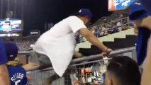 Dodgers Fan CRASHES Astros Bullpen, Gets Carried Out by Police