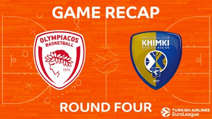 EuroLeague 2017-18 Highlights Regular Season Round 4 video: Olympiacos 92-75 Khimki