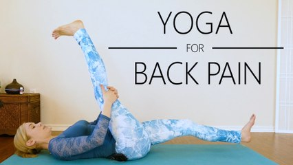 Gentle Yoga for Low Back Pain with Lindsey | Safe Stretches for Hamstrings