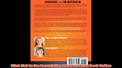 Cracking The Pm Interview How To Land A Product Manager Job In Technology   eBook Pdf