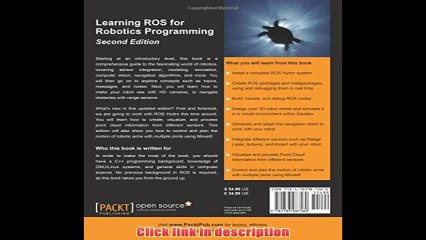 Learning Ros For Robotics Programming Second Edition   eBook Pdf