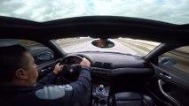 Un mec en BMW s'amuse à slalomer à grande vitesse entre les voitures.. Fail !