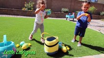 OUTDOOR KIDS EASTER EGG HUNT with LOL Surprise Doll EMOJI EGGS + ELSA and MINIONS EASTER BASKETS!