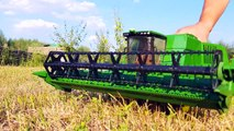 Bruder Toys Combine John Deere  HARVESTING  Video About Special Equipment For Kids Bruder videos-qaCXorF453E