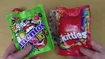 Mentos PopIns compared to Skittles an Jelly Bellies