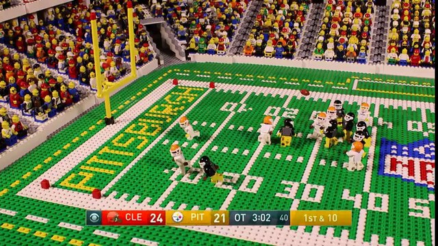 NFL Steelers' game-winning touchdown (Week 17, 2016) Lego Game Animation