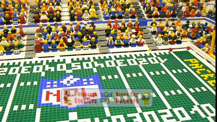 NFL Super Bowl XLV  Pittsburgh Steelers vs. Green Bay Packers   Lego Game Highlights