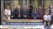 Le Parlement catalan a adopté une motion proclamant l'indépendance de la Catalogne
