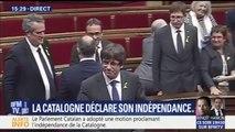 Catalogne: après la déclaration d'indépendance, les parlementaires entonnent l'hymne catalan