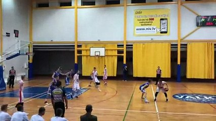 Buzzer beater from downtown in Latvia