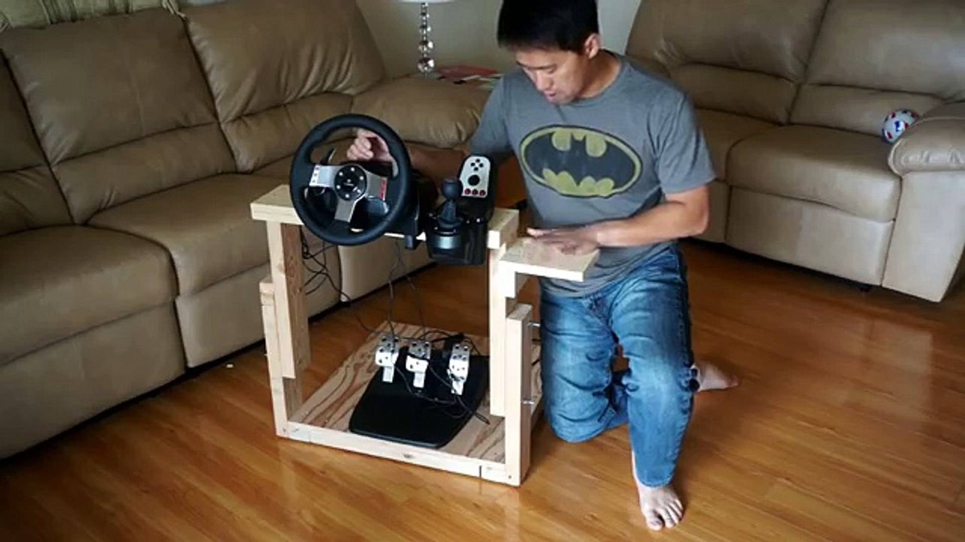 How To Make The Best Homemade Logitech G27 Gaming Wheel Stand In The World Video Dailymotion