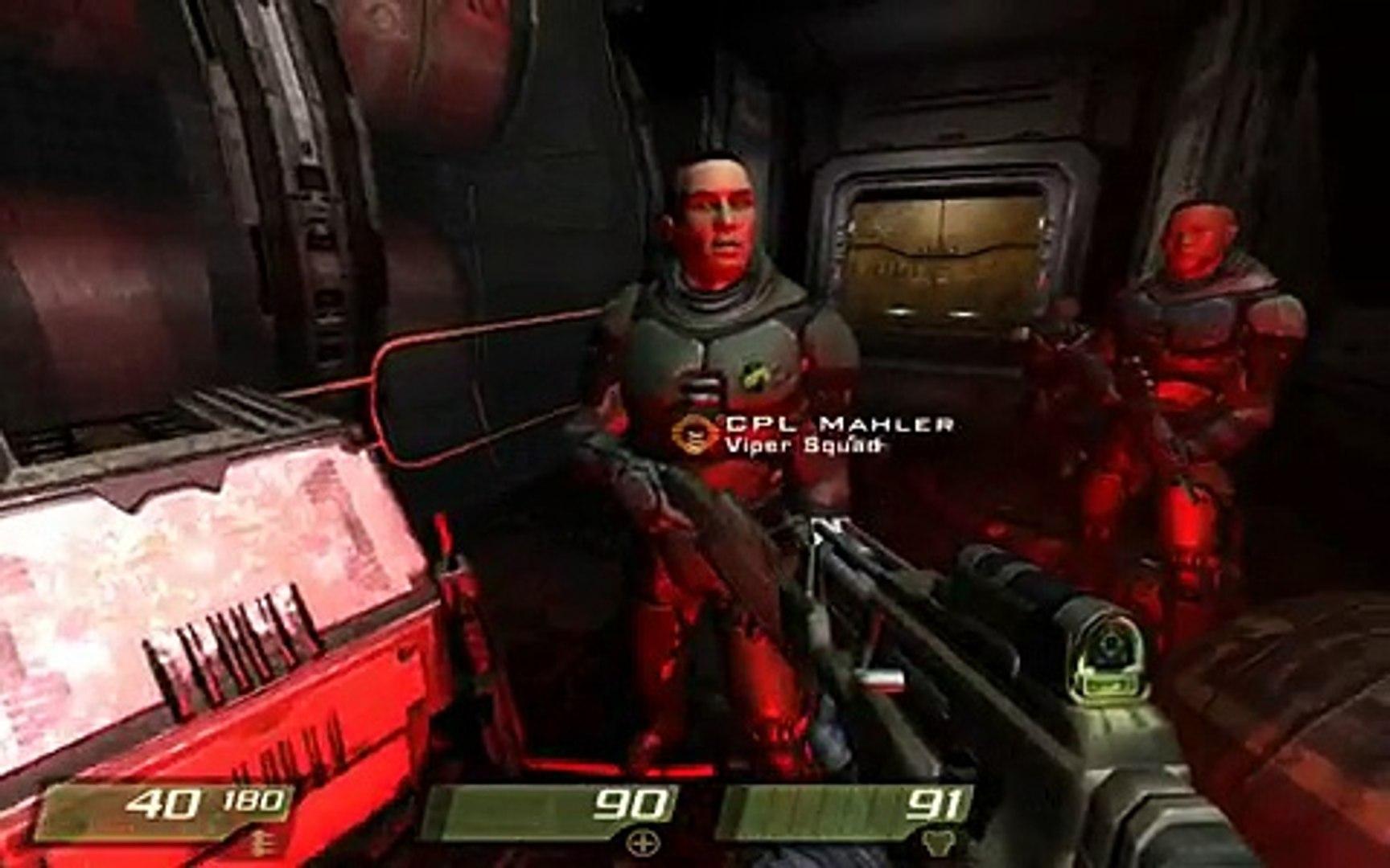 Quake 4 Level 3 Hangar Perimeter