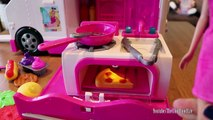 Baby Dolls & Barbie Food Truck - Bad Babies Not Paying Barbie For Food , & Barbie Spaghetti chef