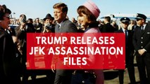 Donald Trump declassifies some but not all files on John F Kennedy's assassination