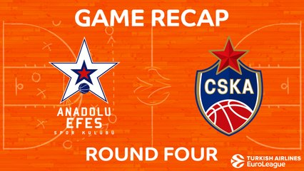 EuroLeague 2017-18 Highlights Regular Season Round 4 video: Efes 80-98 CSKA