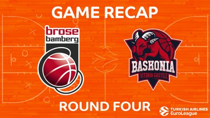 EuroLeague 2017-18 Highlights Regular Season Round 4 video: Bamberg 78-72 Baskonia