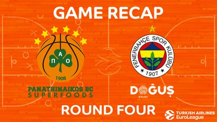 EuroLeague 2017-18 Highlights Regular Season Round 4 video: Panathinaikos 70-68 Fenerbahce