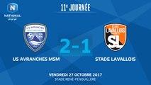 J11 : US Avranches - Stade Lavallois (2-1), le résumé