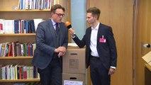 Fabian Köster bei der ersten Sitzung des neuen Bundestags | heute-show vom 27.10.2017