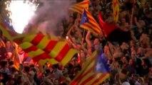 Catalonia Declares Independence - Catalan Republic - Catalans Ecstatic