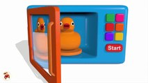 Colors for Children to Learn with Microwave and Blender Toy Appliance - Learn Colors with Vehicles(1)