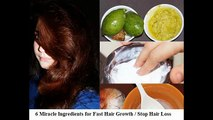 6 Miracle Ingredients for Fast Hair Growth | Stop Hair Loss | Thick Hair | Sneha S