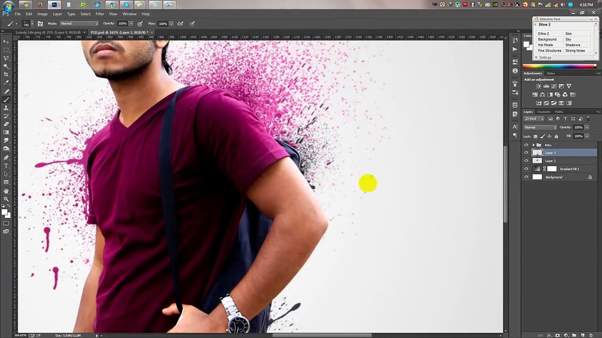 Photoshop tutorials   Splatter / Dispersion photo manipulation Tutorial