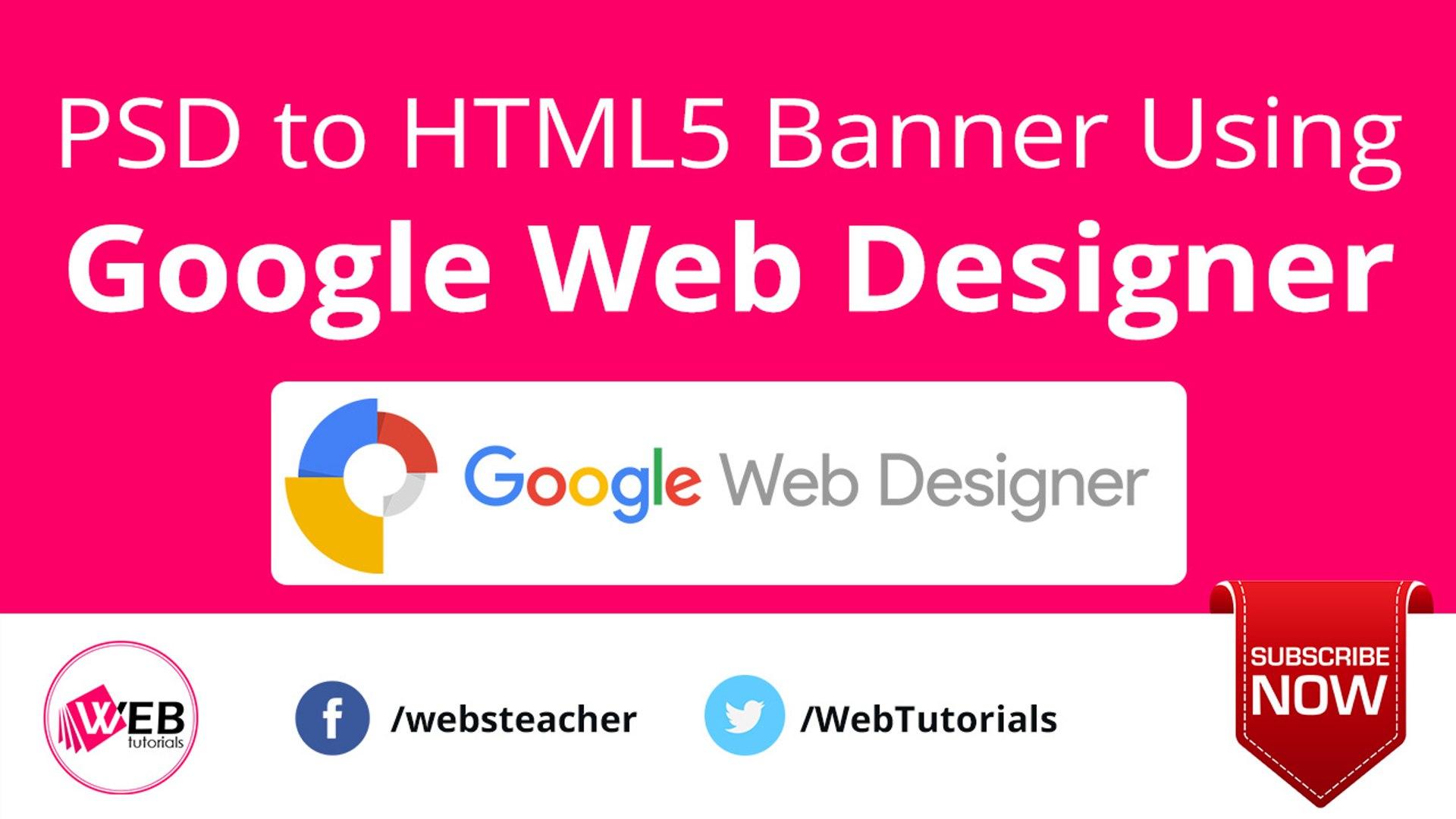 Psd To Html5 Banner Using Google Web Designer Video Dailymotion