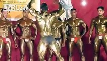 Shiny Bodybuilders Dancing.