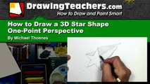 How to Draw a 3D Star Shape - Art for Kids -Draw a Star in One-point Perspective | MAT