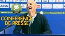 Conférence de presse FC Sochaux-Montbéliard - Chamois Niortais (2-1) : Peter ZEIDLER (FCSM) - Denis RENAUD (CNFC) - 2017/2018