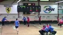Premier tour, tir rapide en double, Club Elite Masculin J3, Aix-les-Bains contre Balaruc-les-Bains, octobre 2017