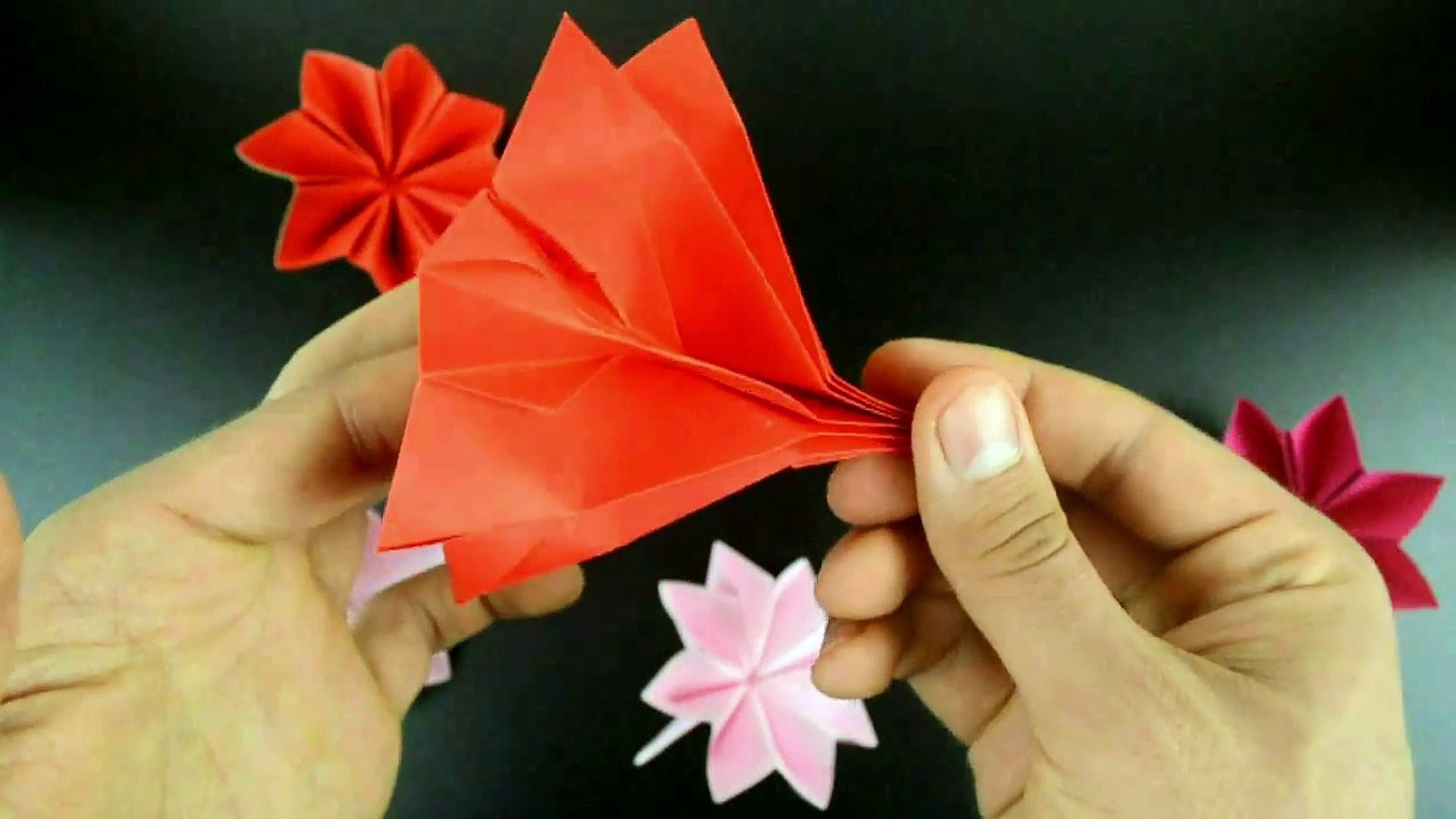 Lily Flower - Origami How To Make Paper Lily Flower | Traditional ... | 1080x1920