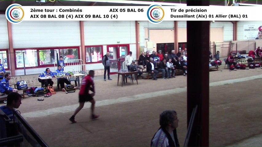 Second tour, premier tir de précision, Club Elite Masculin J3, Aix-les-Bains contre Balaruc-les-Bains, octobre 2017